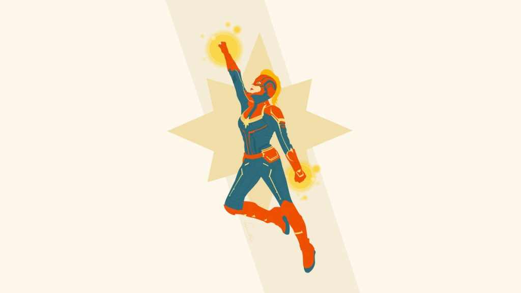 Captain Marvel fan art by DeviantArt user Sephiroth508