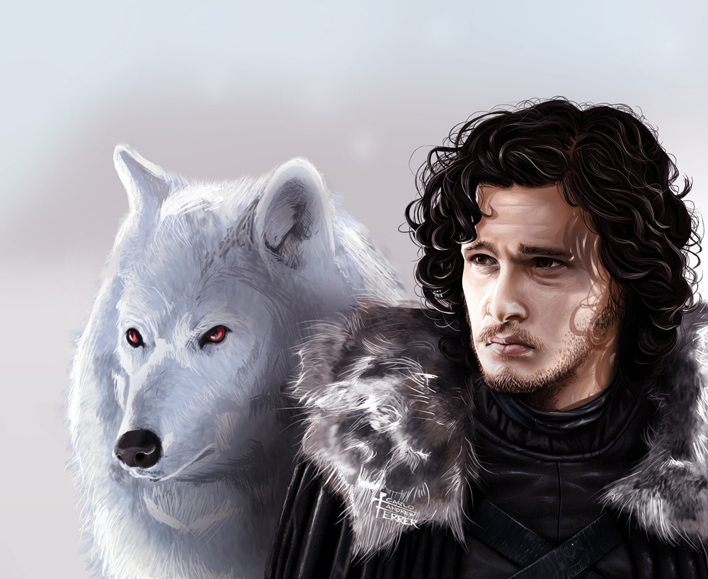 Jon_Snow_and_Ghost -- Wons Noj/Wikimedia Commons